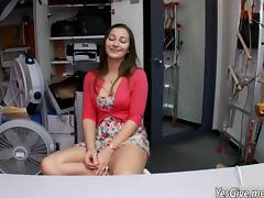 Superb Dani Daniels shows off her amazing body and is fucked in backroom tube porn video