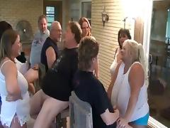 Fat Swingers videos. Group sex orgy of obese girls sucking dicks self-pleasing pussies and getting pounded