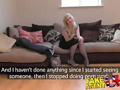 FakeAgentUK: Sweet blonde desperate to get back into the business tube porn video