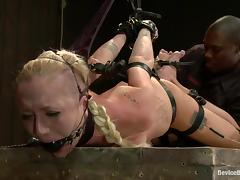 Playful blondie is being punished for being such a bitch tube porn video