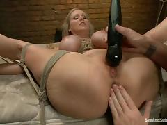 Julia Ann ges bound and fucked remarcably well in terrific BDSM vid tube porn video