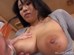 Busty Japaneses hottie bends over for an old fart tube porn video