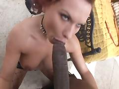 Lovely redhead takes on a monster cock tube porn video