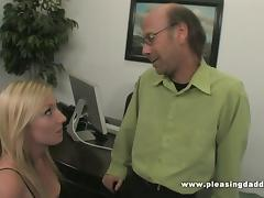 Young slut fucks her boss to keep her job tube porn video