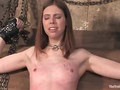 Kristine gets blindfolded, tortured and fucked hard in BDSM scene tube porn video