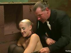 Three sexy chicks in stockings get punished by their master tube porn video