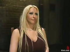 Tied and Bounded Busty Blonde Candy Manson Throat and Pussy Fucked tube porn video