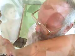 Grandpas and Young Girls in a gracious embrace tube porn video