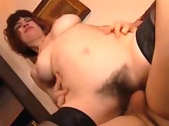Mom with hairy sweet cunt & yumi saggy tits tube porn video