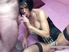 Busty MILF Melissa Swallows gets her mature twat banged tube porn video