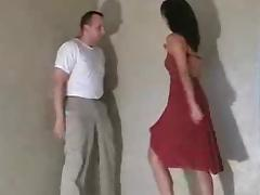 Ballbusting Fury in red tube porn video