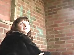 English milf persuaded to flash outdoors tube porn video