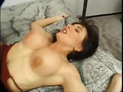 Smoking hot big tits brunette ends up with a big one up both ends tube porn video