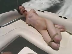 Wild Outdoors Bondage and Domination Fun with Skinny Gal tube porn video