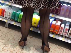 Black seamed stockings 1 tube porn video