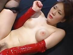 Asian model with hairy puss have sex in the first place the bed tube porn video