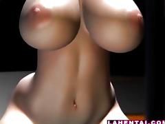Big titted hentai babe fucked and jizzed tube porn video