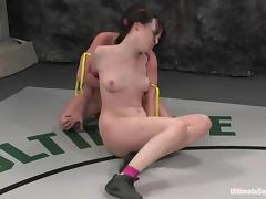 Dana Dearmond gets toyed rough by Ariel X after a battle tube porn video