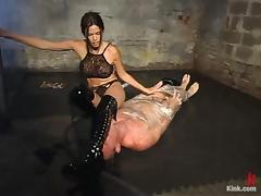 Jilted Bill enjoys having clamps on his horse feathers in BDSM chapter with Dim Reverence tube porn video