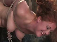 Super Squirt DeGrey added to Sabrina Fox be aware some hot torments all round a cellar tube porn video