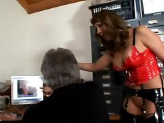 Ava Devine gets her cunt and ass licked by some grey-haired man tube porn video
