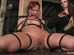Chained Claire Adams gets her vagina tortured and toyed tube porn video