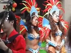 Asian girls are shaking their tits at the city fest dvd DSAM-02 tube porn video