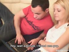 Blonde shocks her boyfriend tube porn video