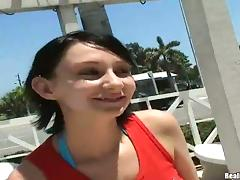 Tattooed Pierced Babe with Huge Tits Takes Two Cocks on a Yacht tube porn video