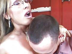 Hot MILF fucking asshole and vagina tube porn video