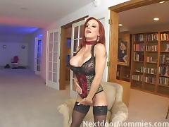 Next Door Mommies: Redhead mom swallows cum from a big cock tube porn video