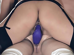 Hot lesbians fucking in front of mirror tube porn video