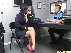 Tasty Brandy Aniston Wearing A Sexy Uniform Gets Fucked By A Security Guard tube porn video