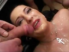 German slut receives a facial and is drilled very rough tube porn video
