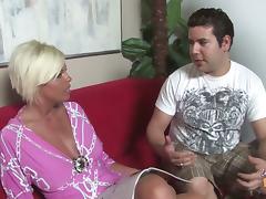 Beautiful Blond MILF Gets Interracial Gangbang By Black Dudes tube porn video