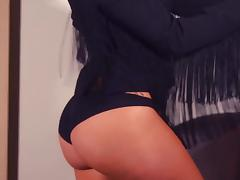 Solo scene with sexy erotic beauty Reby Sky tube porn video