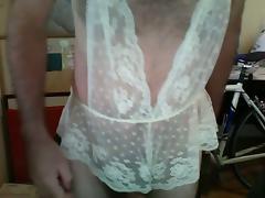 More crossdressing in lingerie and jerking tube porn video