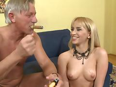 Aleska Diamond fucks with old Christoph Clark tube porn video