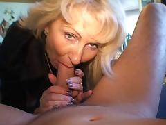 Blond German Milf - Fucks a Guy with her Nylons tube porn video