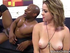 Exquisite Sierra Sanders Serves An Interracial Blowjob tube porn video