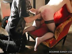french bdsm soumise sandy libertine mure recoit un fist vaginal tube porn video