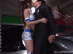 Arousing Asian race queen in hard rear fucking and a threesome tube porn video