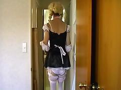 crossdresser riding toy tube porn video