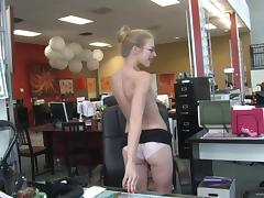 Insane sex in the office is how Avril Hall's day ends tube porn video