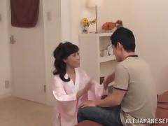 Japanese mom gets her cunt licked and fucked in cowgirl position tube porn video