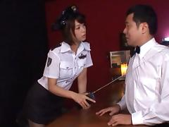 Nanami Kawakami naughty police officer fucks with the chief tube porn video