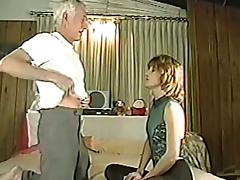 Grandpa is fucking this booty blond chick tube porn video