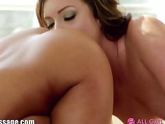 AllGirlMassage Trib and Lick on Massage Table tube porn video