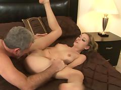 Nicole Ray fucks with an old man Jay Crew tube porn video