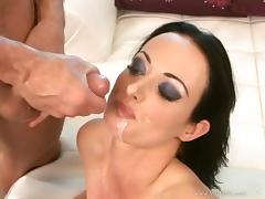 Melissa Lauren gets all her holes fucked by a brutal bearded guy tube porn video